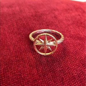 Two-tone 14K Gold Compass Rose Ring